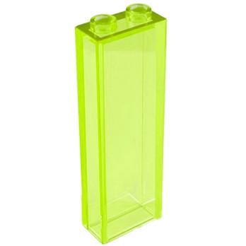LEGO 6066338 Brique 1X2X5 - Jaune Fluo Transparent