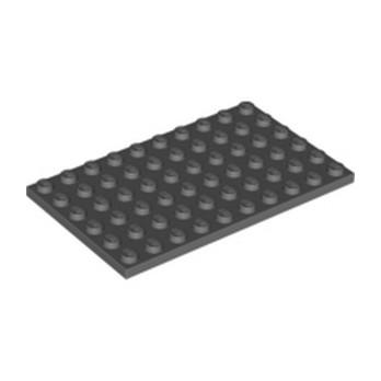 LEGO 4211114 PLATE 6X10 - DARK STONE GREY