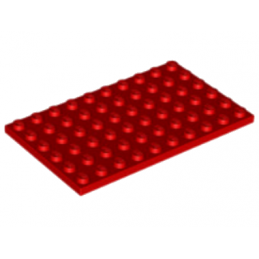 LEGO 6249097 PLATE 6X10 - ROUGE