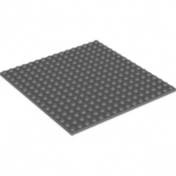 LEGO 6004927 PLATE 16X16 - DARK STONE GREY