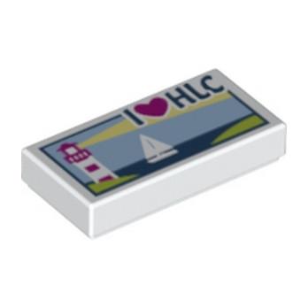 LEGO 6115160  PLAQUE IMPRIME 1X2