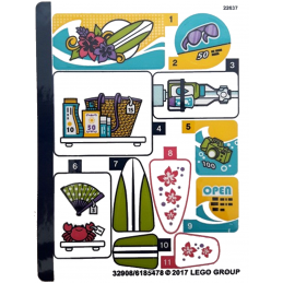 Stickers / Autocollant Lego Friends - 41315