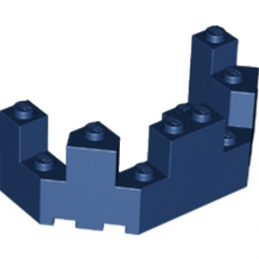 LEGO 6139001 BALCON / TOURELLE 4X8X2 - EARTH BLUE