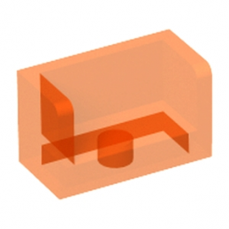 LEGO 6181312 - Cloisons 1X2X1- Orange Fluo Transparent