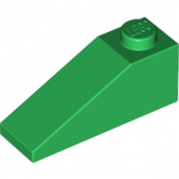 LEGO 428628 TUILE 1X3/25° - DARK GREEN