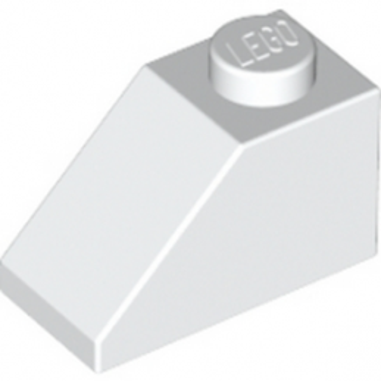 LEGO 304001 TUILE 1X2/45° - BLANC