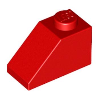 LEGO 304021 TUILE 1X2/45° - ROUGE