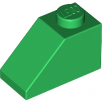 LEGO 304028 TUILE 1X2/45° - DARK GREEN