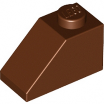 LEGO 4211199 TUILE 1X2/45° - REDDISH BROWN