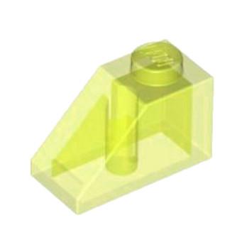 LEGO 4140733 TUILE 1X2/45° - JAUNE FLUO TRANSPARENT