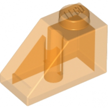 LEGO 6022650 TUILE 1X2/45° - OANGE TRANSPARENT