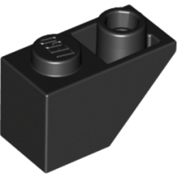 LEGO 366526  TUILE 1X2 INV. - NOIR