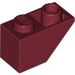 LEGO 4224302 TUILE 1X2 INV. - NEW DARK RED