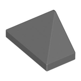 LEGO 4552203 TUILE 1X2/45° - DARK STONE GREY lego-6076203-tuile-1x245-dark-stone-grey ici :