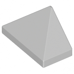 LEGO 4211411 TUILE 1X2/45° - MEDIUM STONE GREY
