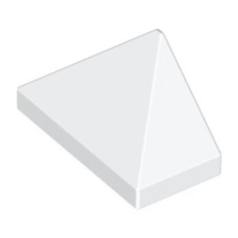 LEGO 304801 TUILE 1X2/45° - BLANC lego-304801-tuile-1x245-blanc ici :