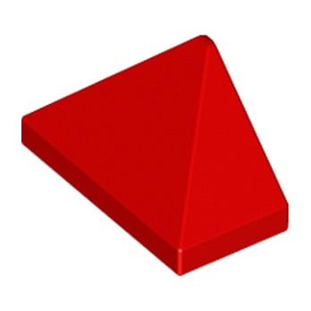 LEGO 304821  TUILE 1X2/45° - ROUGE