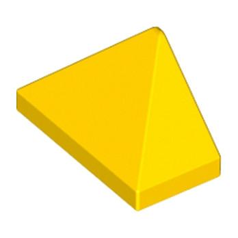 LEGO 6075080 TUILE 1X2/45° - JAUNE