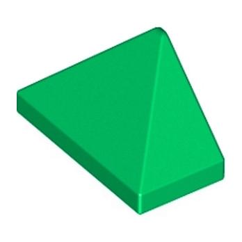 LEGO 304828  TUILE 1X2/45° - DARK GREEN