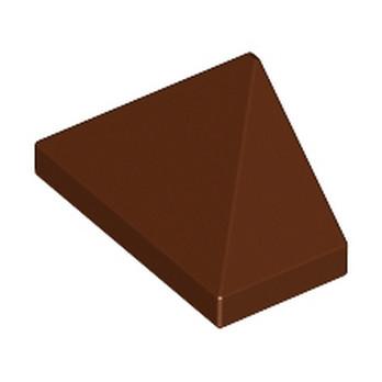 LEGO 4211251 TUILE 1X2/45° - REDDISH BROWN
