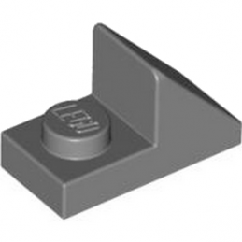LEGO 4621917 TUILE 1X2 45° W 1/3 PLATE - DARK STONE GREY