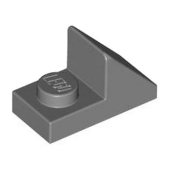 LEGO 6069164 TUILE 1X2 45° W 1/3 PLATE - DARK STONE GREY