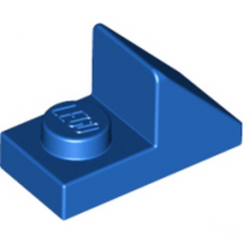 LEGO 6069163 TUILE 1X2 45° W 1/3 PLATE - BLEU
