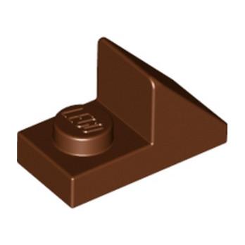 LEGO 6075287 TUILE 1X2 45° W 1/3 PLATE - REDDISH BROWN