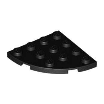 LEGO 4206156  PLATE 4X4, 1/4 CIRCLE - NOIR