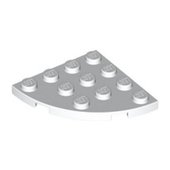 LEGO 4178429  PLATE 4X4, 1/4 CIRCLE - BLANC