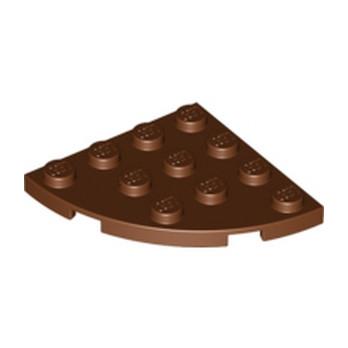 LEGO 4211297  PLATE 4X4, 1/4 CIRCLE - REDDISH BROWN