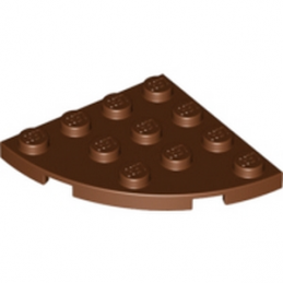 LEGO 4211297  PLATE 4X4, 1/4 CIRCLE - REDDISH BROWN