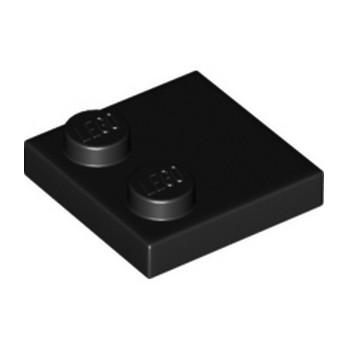 LEGO 6192346 - Plate 2x2 - Noir