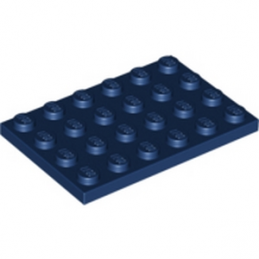 LEGO 6037887 PLATE 4X6 - EARTH BLUE
