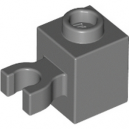 LEGO 4580437 BRIQUE 1X1 W/HOLDER, H0RIZONTAL - DARK STONE GREY
