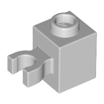 LEGO 4515357 BRIQUE 1X1 W/HOLDER, H0RIZONTAL - MEDIUM STONE GREY