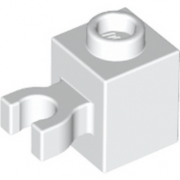 LEGO 4515352 BRIQUE 1X1 W/HOLDER, H0RIZONTAL - BLANC