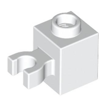 LEGO 6321349 BRICK 1X1 W/HOLDER, H0RIZONTAL - WHITE