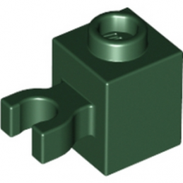 LEGO 4583846 BRIQUE 1X1 W/HOLDER, H0RIZONTAL - EARTH GREEN