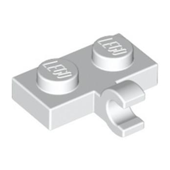 LEGO 6070712 PLATE 1X2 W. 1 HORIZONTAL SNAP - BLANC