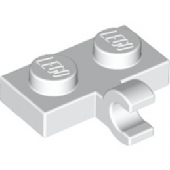 LEGO 6070712 PLATE 1X2 W. 1 HORIZONTAL SNAP - BLANC lego-6313115-plate-1x2-w-1-horizontal-snap-blanc ici :