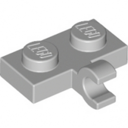 LEGO 6028812 PLATE 1X2 W. 1 HORIZONTAL SNAP - MEDIUM STONE GREY