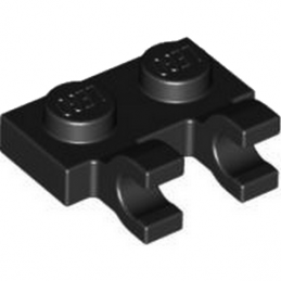 LEGO 4556158 PLATE 1X2 W/HOLDER, VERTICAL - BLACK