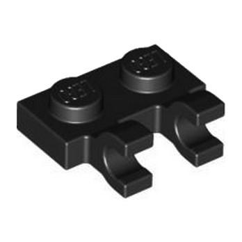 LEGO 4515172  PLATE 1X2 W/HOLDER, VERTICAL - NOIR
