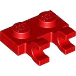 LEGO 6360036 PLATE 1X2 W/HOLDER, VERTICAL - ROUGE