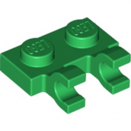 LEGO 4520671 PLATE 1X2 W/HOLDER, VERTICAL - DARK GREEN
