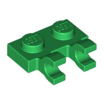 LEGO 6347288 PLATE 1X2 W/HOLDER, VERTICAL - DARK GREEN lego-6347288-plate-1x2-wholder-vertical-dark-green ici :
