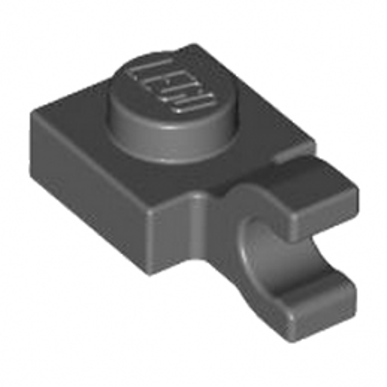 LEGO 6360111 PLATE 1X1 W/HOLDER VERTICAL - DARK STONE GREY