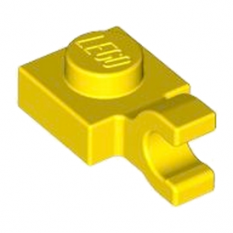 LEGO 4540040 PLATE 1X1 W/HOLDER VERTICAL - JAUNE