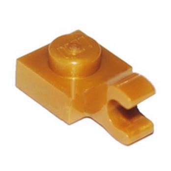 LEGO 6284379 PLATE 1X1 W/HOLDER VERTICAL - WARM GOLD